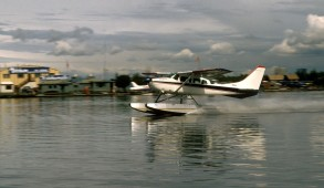 Travel seaplane landing