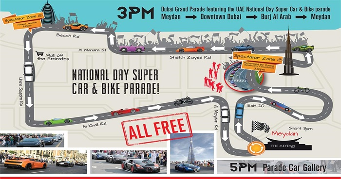 Dubai Grand Parade Route Map