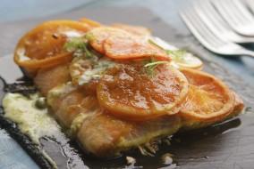 Chef Simon Rimmer Tangerine Salmon