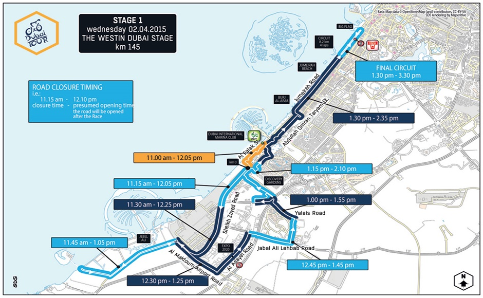 Dubai Tour 2015 Stage 1