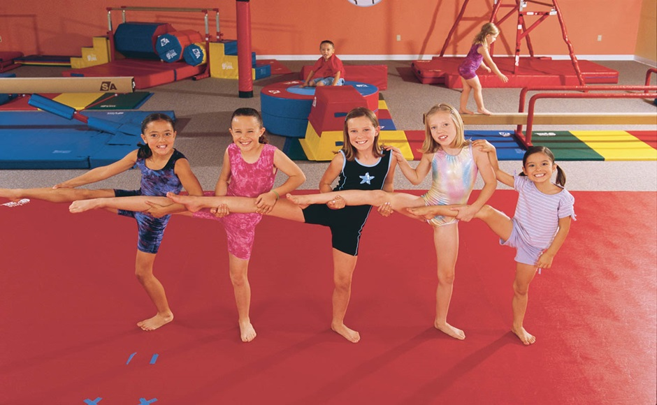 Gymnastic classes at the Little Gym of Dubai