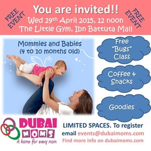 Exclusive Dubaimoms.com event at The Little Gym of Dubai