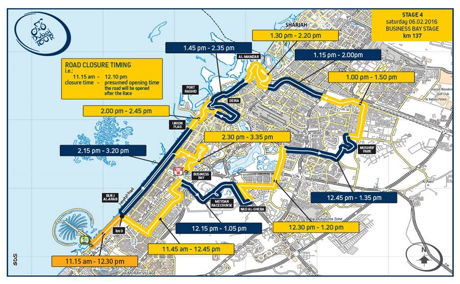 Dubai Tour Road Closure