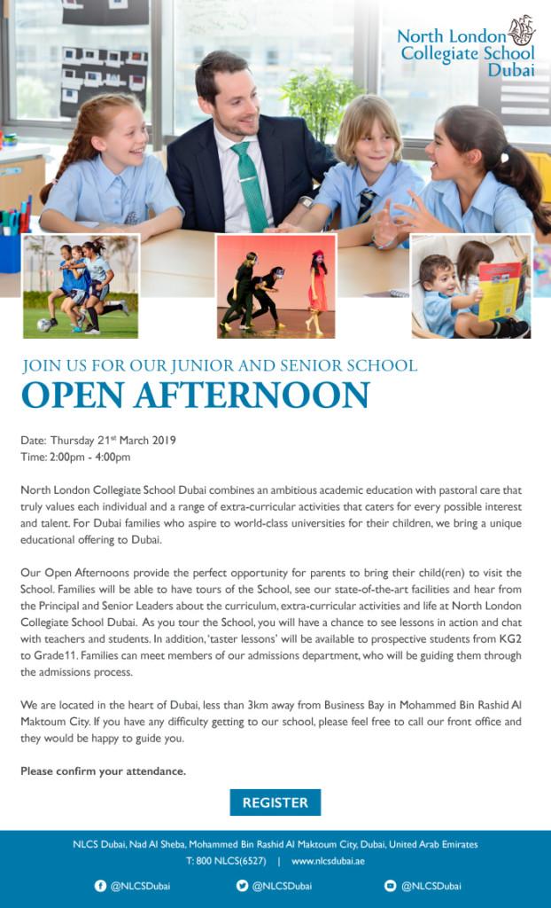 NLCS Dubai Open Afternoon Invitation