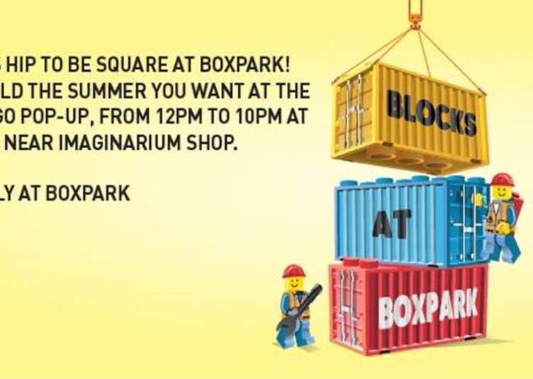 lego pop-up in BoxPark